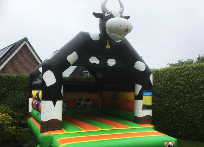 Springkussen koe groot