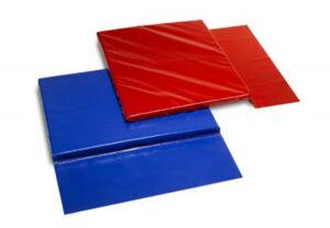 Valmatten blauw en rood